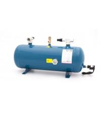 Ресивер жидкостной горизонтальный с платформой для компрессора GVN HLR-5D-F/F-09x1 9л