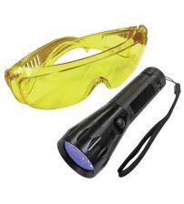 Ультрафиолетовая минилампа LED с очками Mastercool MC-53517-UV